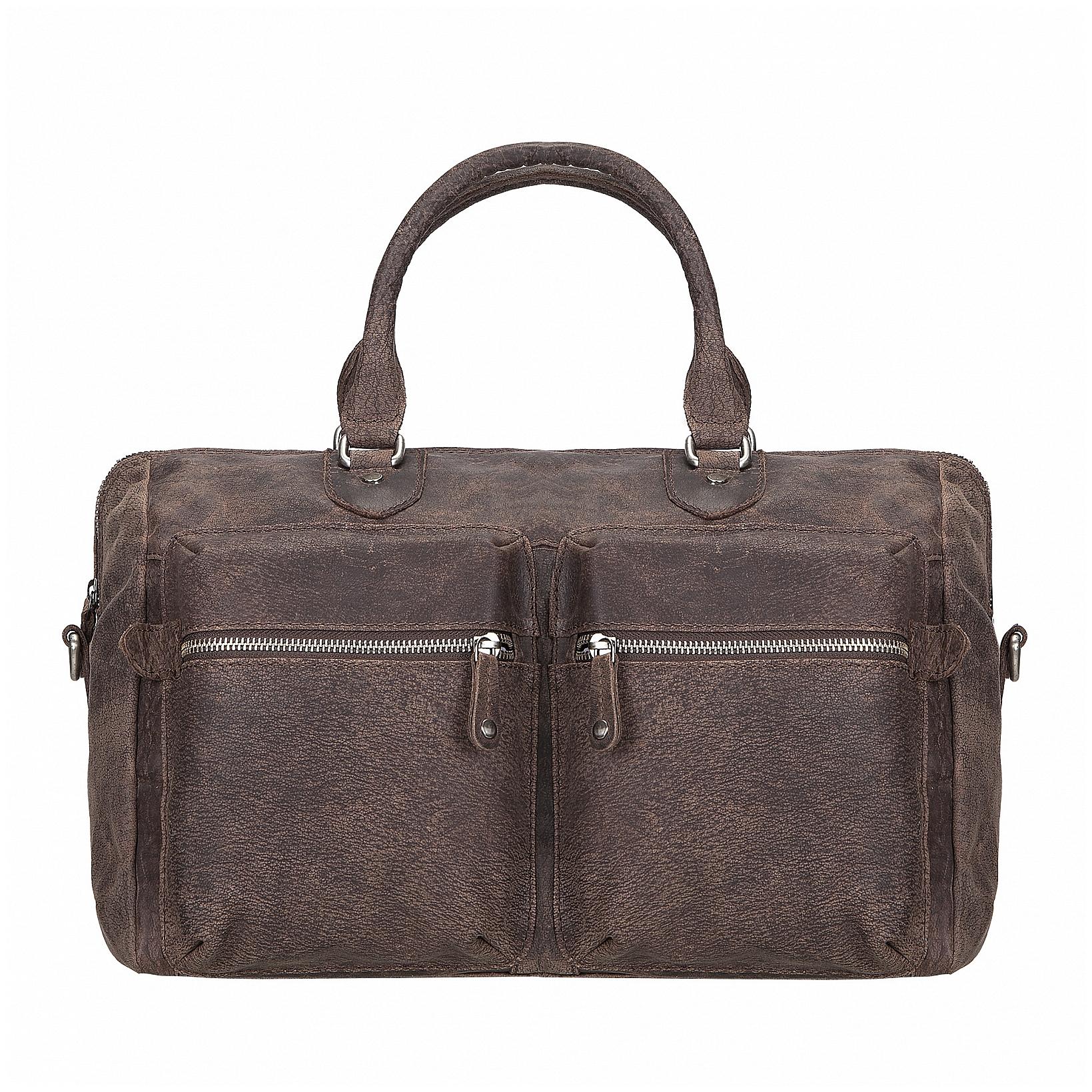 ESTELLE Velká kabelka z buvolí kůže 1276-86 tmavě hnědá bf920ace00