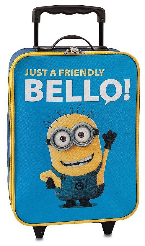 Fabrizio Dětský kufr na kolečkách Minions 20357-045 modro-žlutá