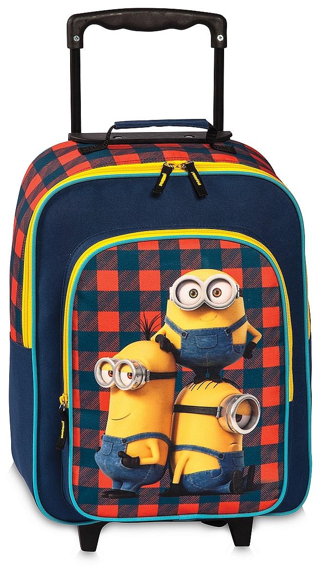 Fabrizio Dětský batoh na kolečkách Minions 20456-0206 modro-žluto-červená