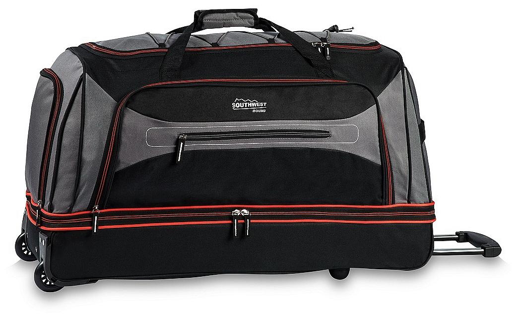 Southwest Cestovní taška na kolečkách 30281-1702 šedo-červená