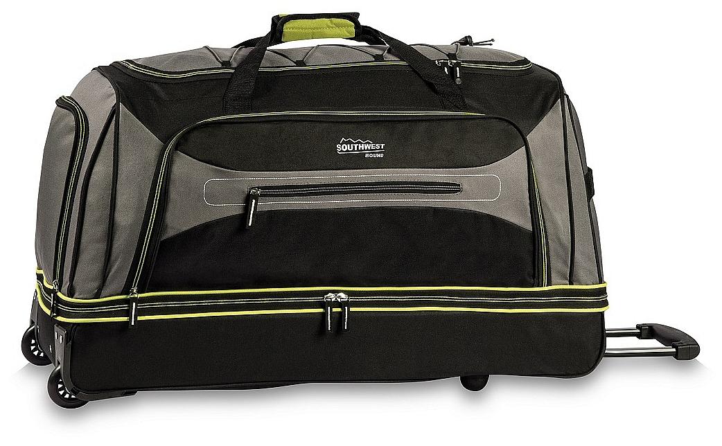 Southwest Cestovní taška na kolečkách 30281-1733 šedo-zelená