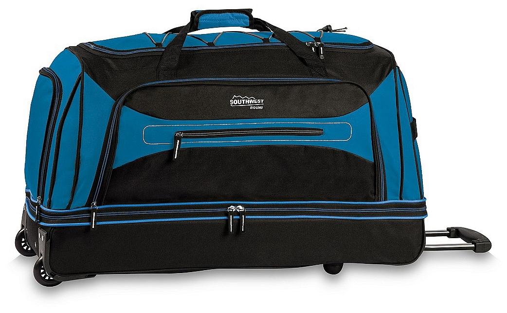 Southwest Cestovní taška na kolečkách 30281-2501 černo-modrá