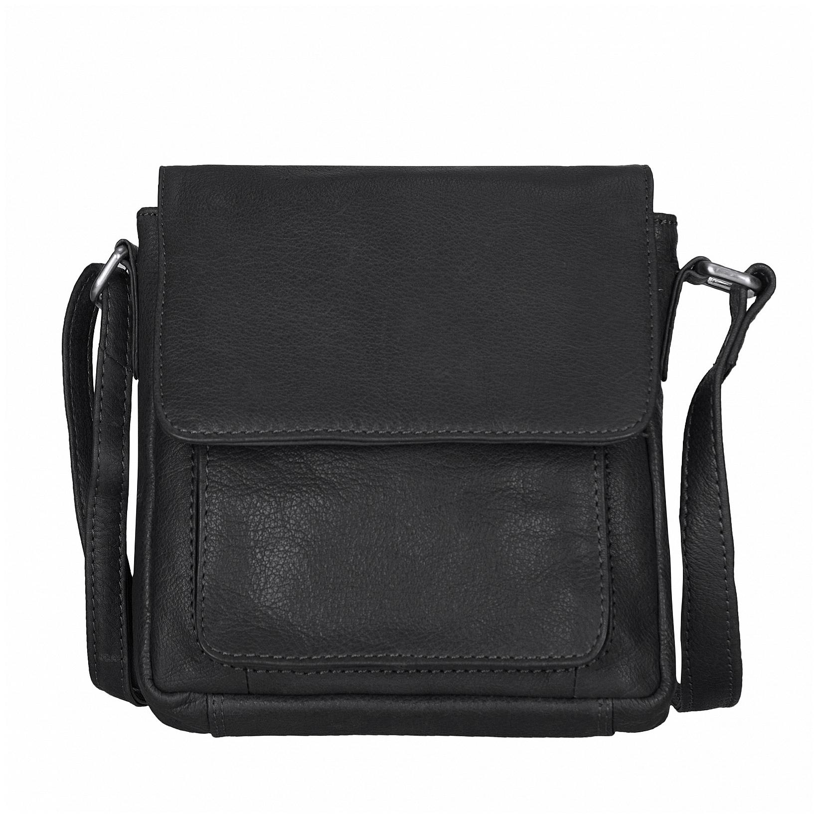 ESTELLE Kožená kabelka přes rameno 1118-06 černá