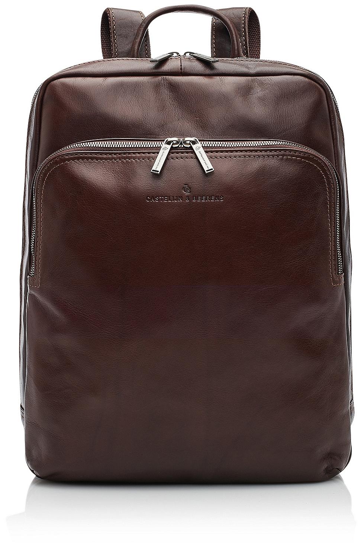 Castelijn  amp  Beerens Elegantní kožený batoh na notebook 609576 hnědý 0c35d24b48