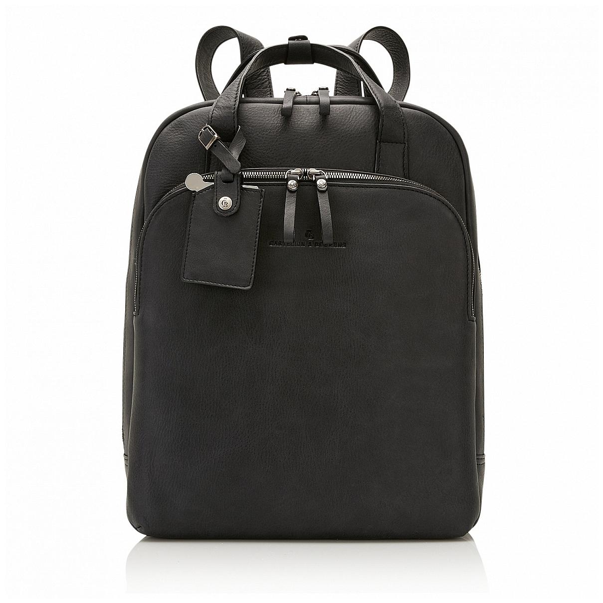 Castelijn & Beerens Elegantní kožený batoh na notebook 729577 černý