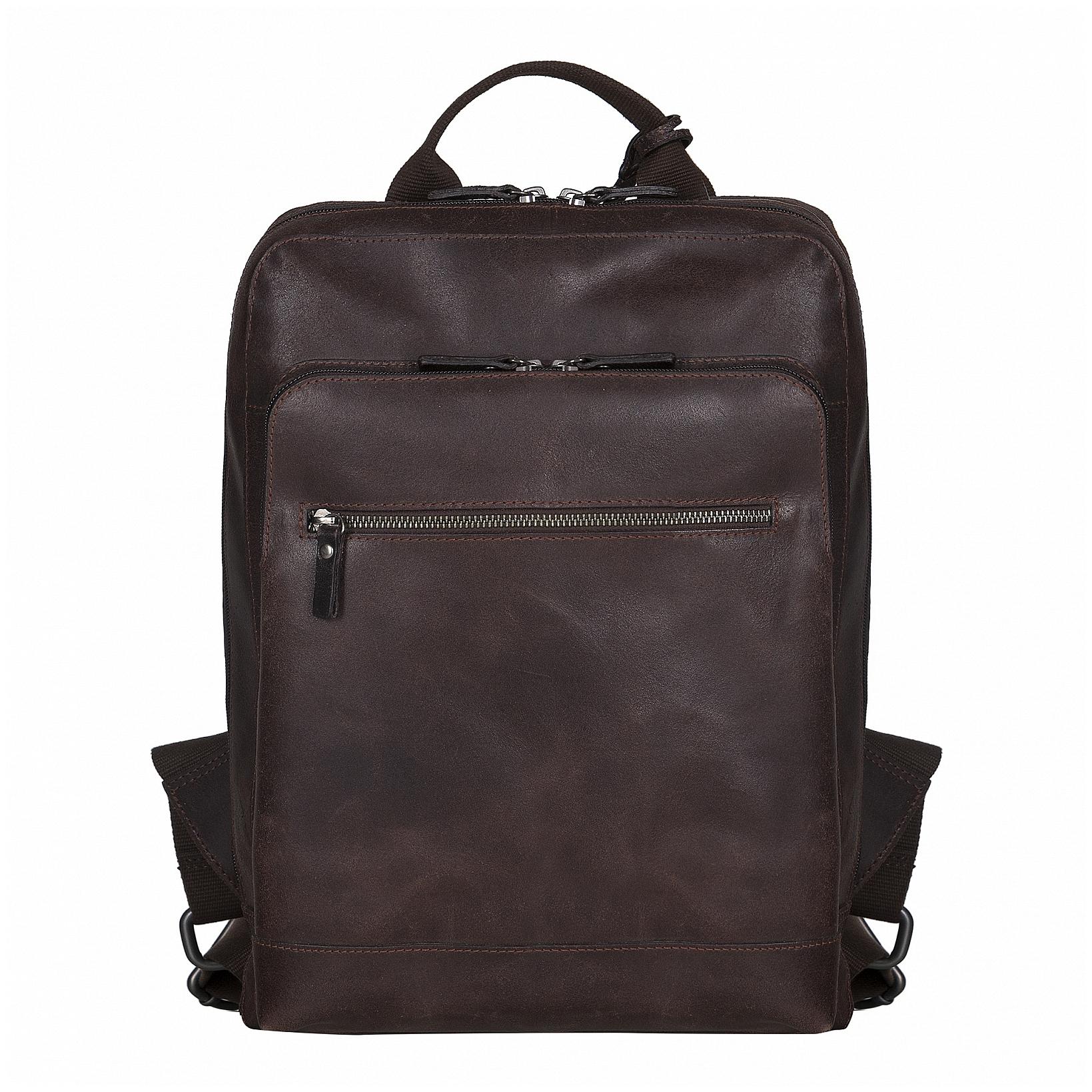 LEONHARD HEYDEN Kožený business batoh na notebook DAKOTA 9075502 hnědá