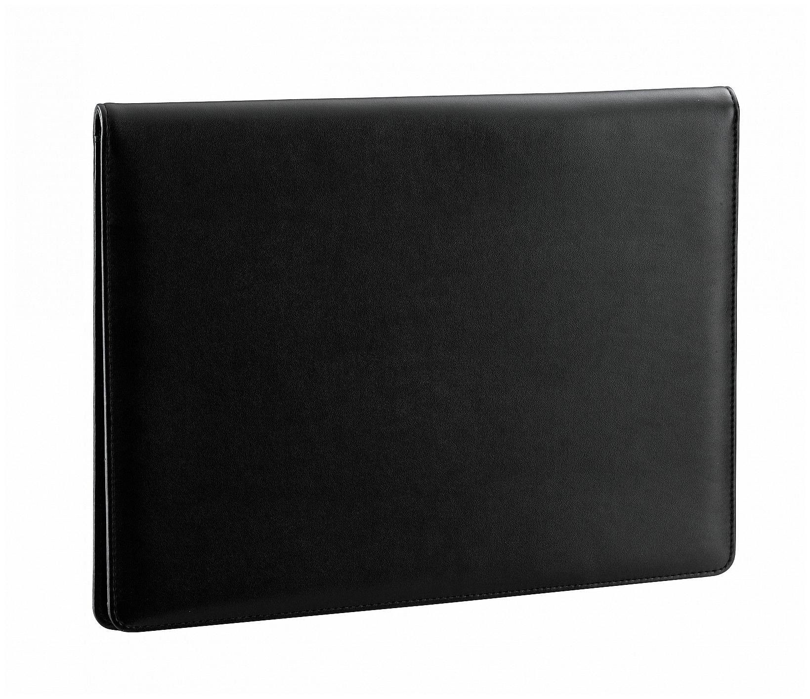 d & n Lederwaren Psací desky A4 s blokem 5094 černá
