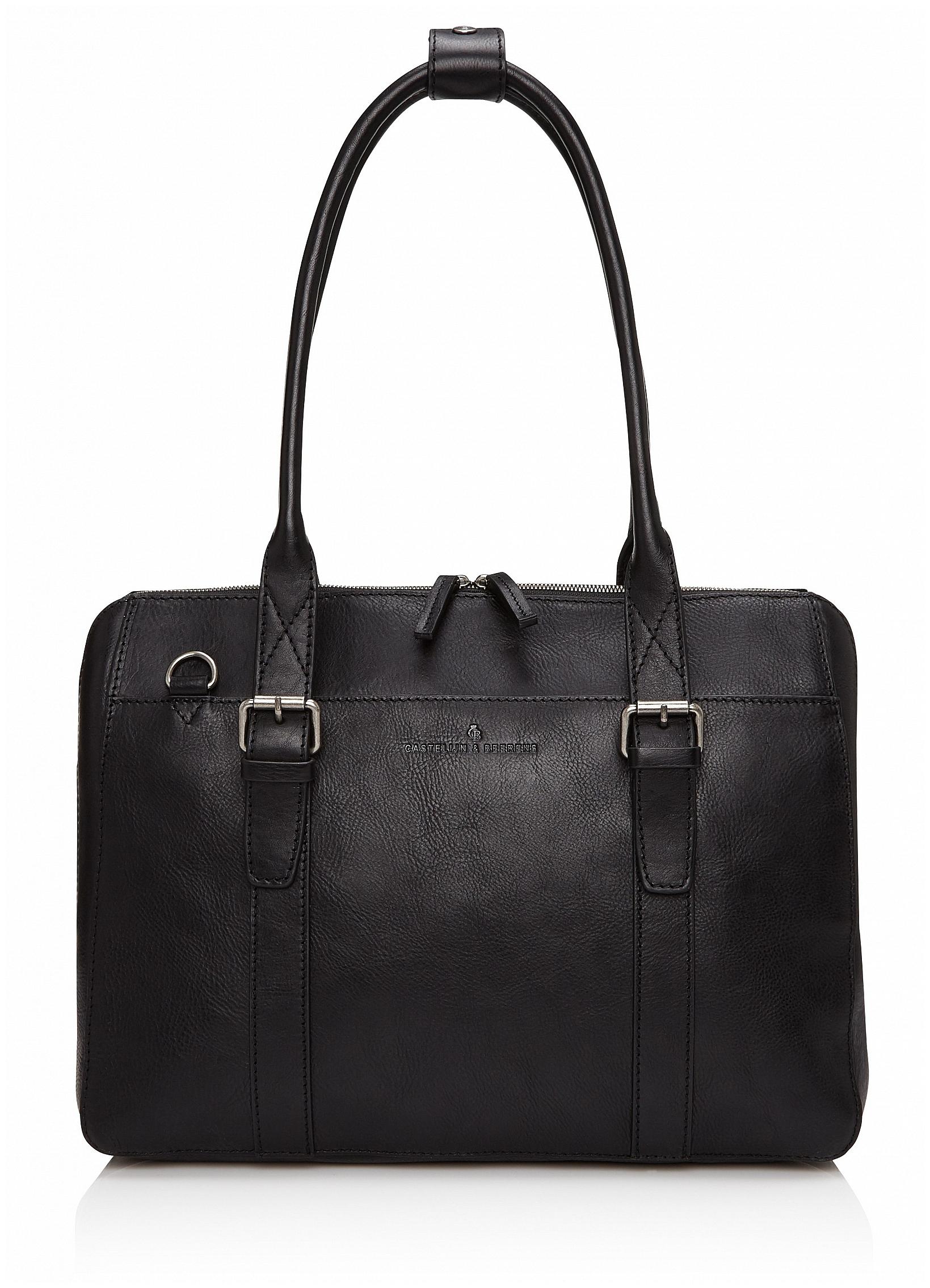 Castelijn & Beerens Dámská kožená taška na notebook a tablet Bravo 639665 černá