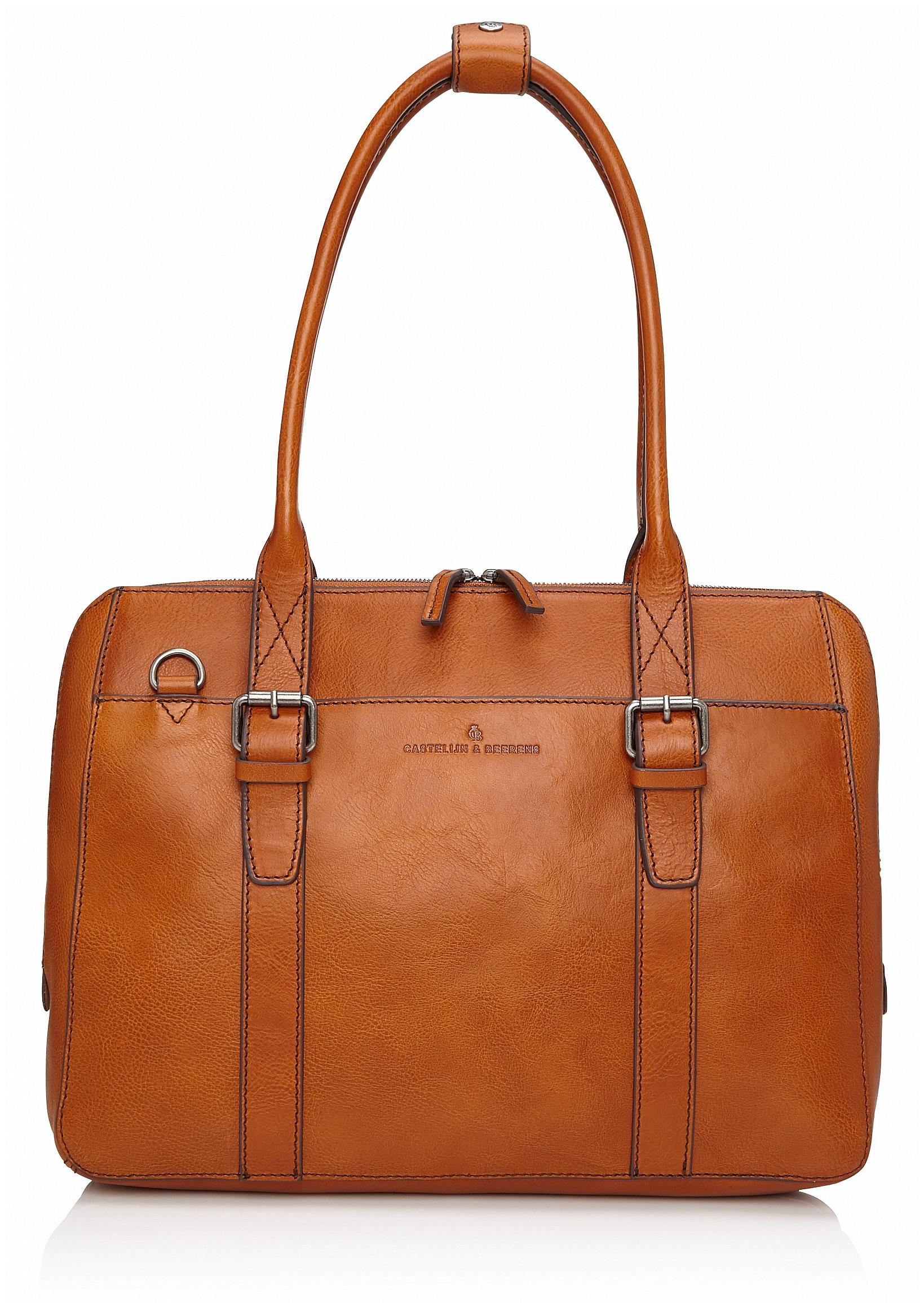 Castelijn & Beerens Dámská kožená taška na notebook a tablet Bravo 639665 koňak