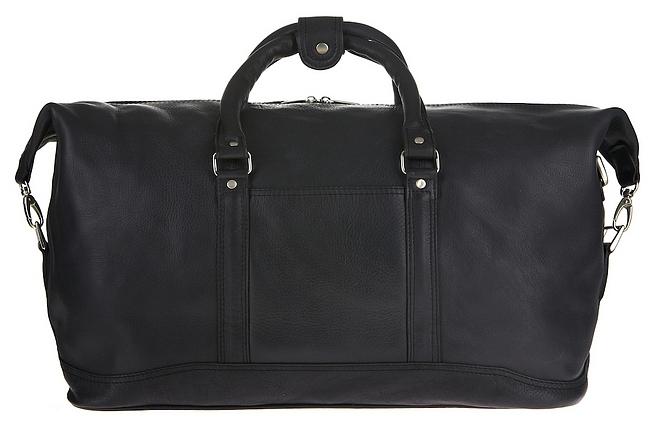XL cestovní taška z hovězí kůže Jahn-Tasche 697 černá