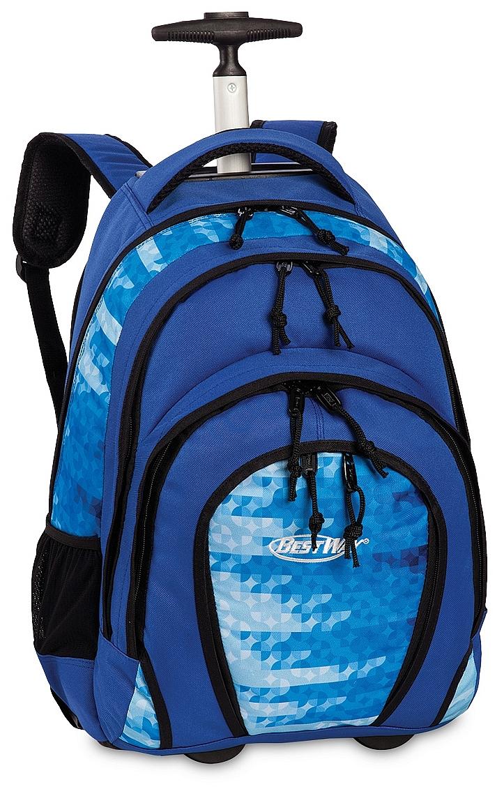 BestWay Školní batoh na kolečkách 40133-0400 modrý