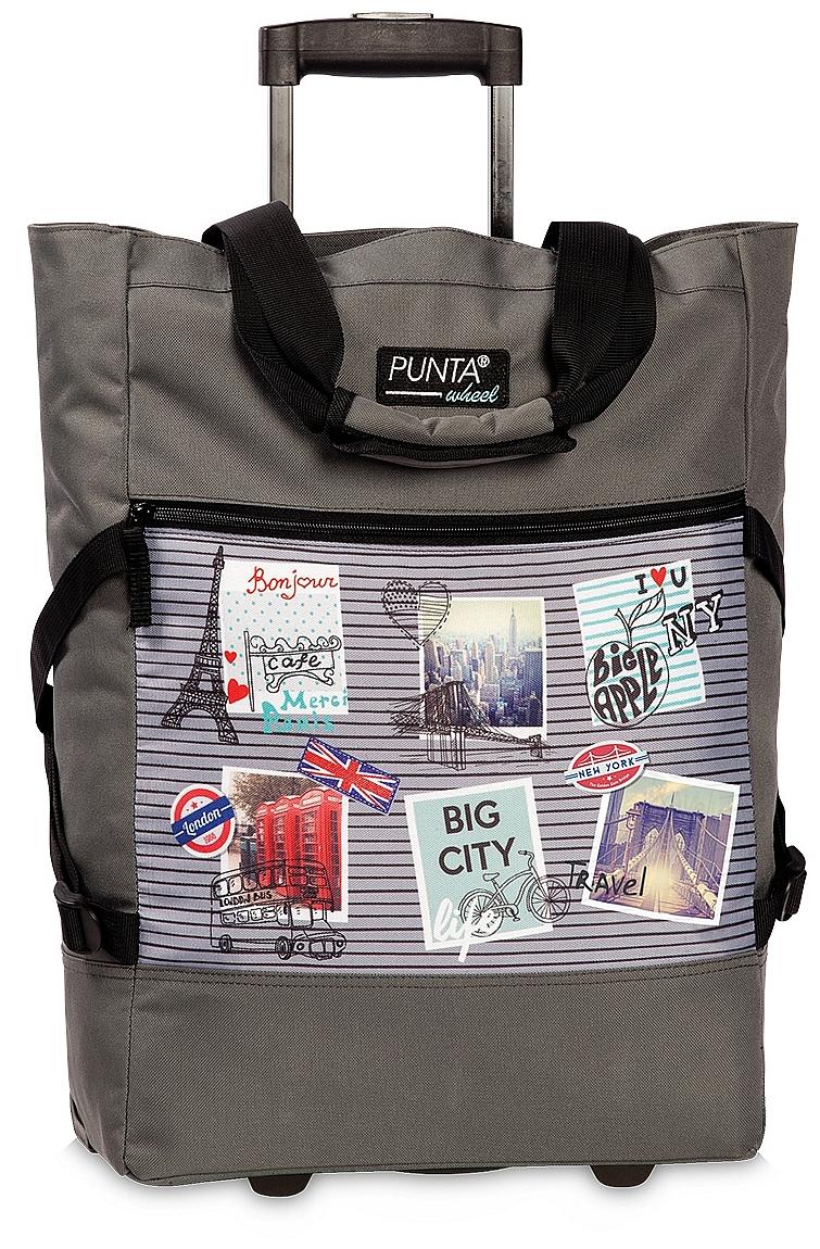 PUNTA wheel Nákupní taška na kolečkách 10008-1700 šedá