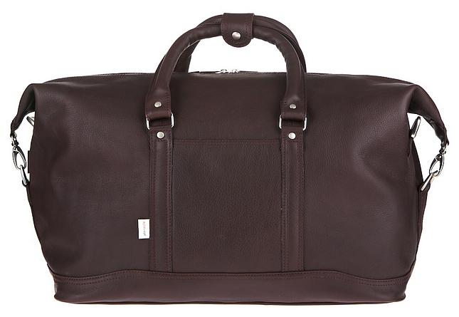 XL cestovní taška z hovězí kůže Jahn-Tasche 697 hnědá