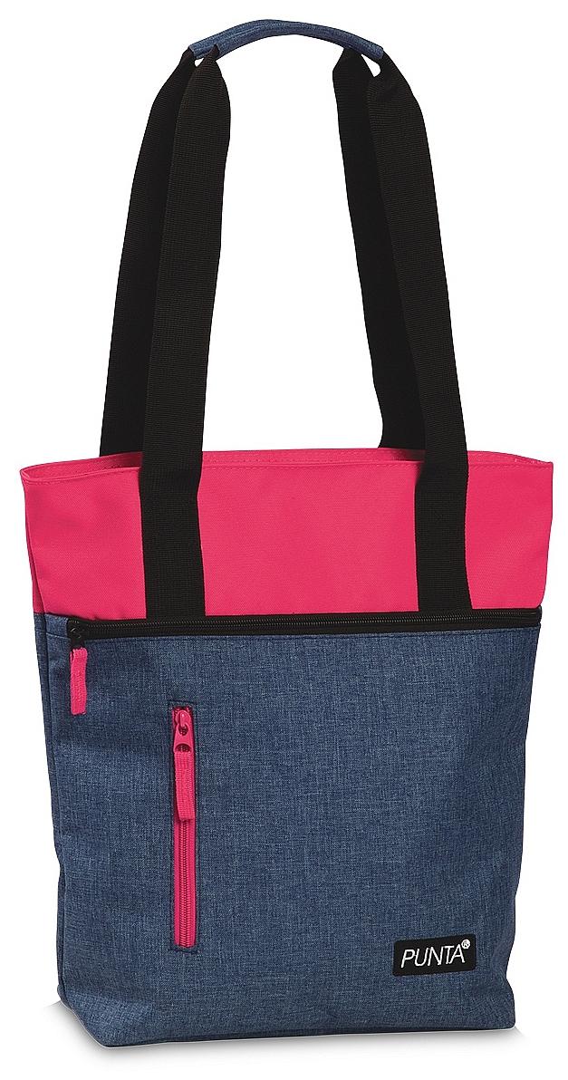 Fabrizio Nákupní taška - Plážová taška 10276-5300 riflově modrá - růžová