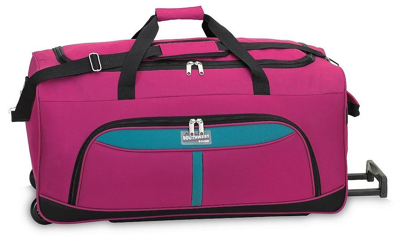 Southwest Cestovní taška na kolečkách 30225-2223 růžová / tyrkysová