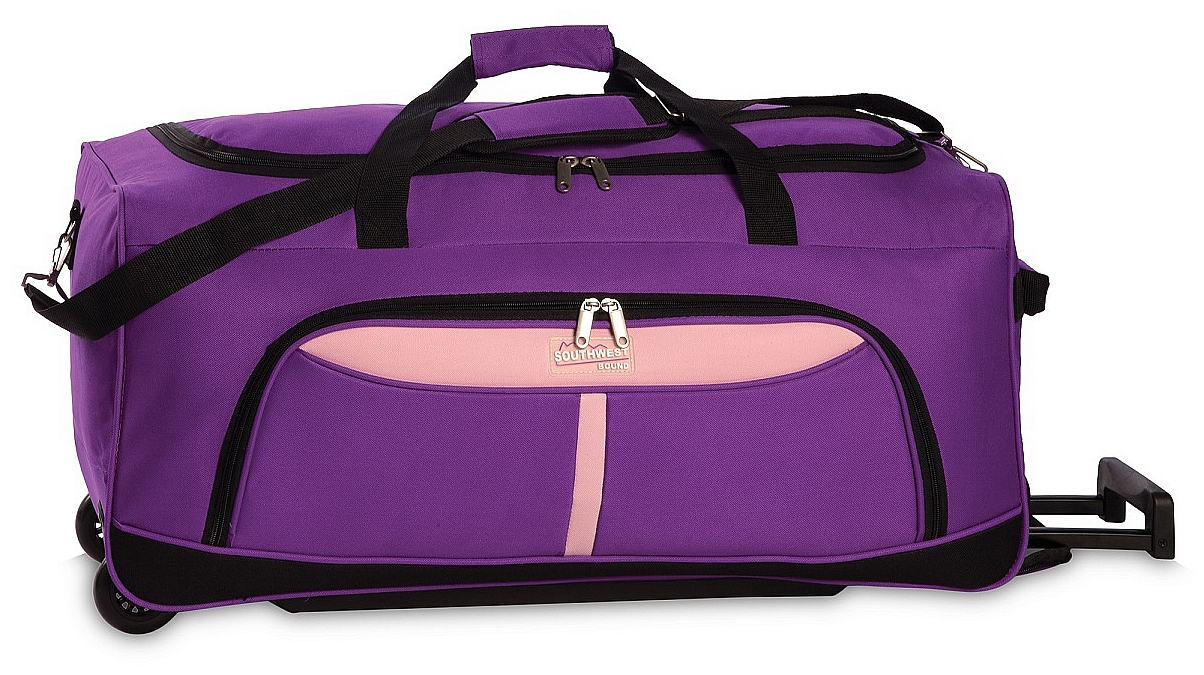 Southwest Cestovní taška na kolečkách 30225-1921 fialová/světle růžová