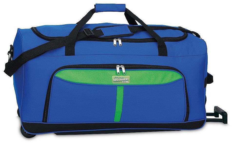 Southwest Cestovní taška na kolečkách 30225-0507 modrá/zelená