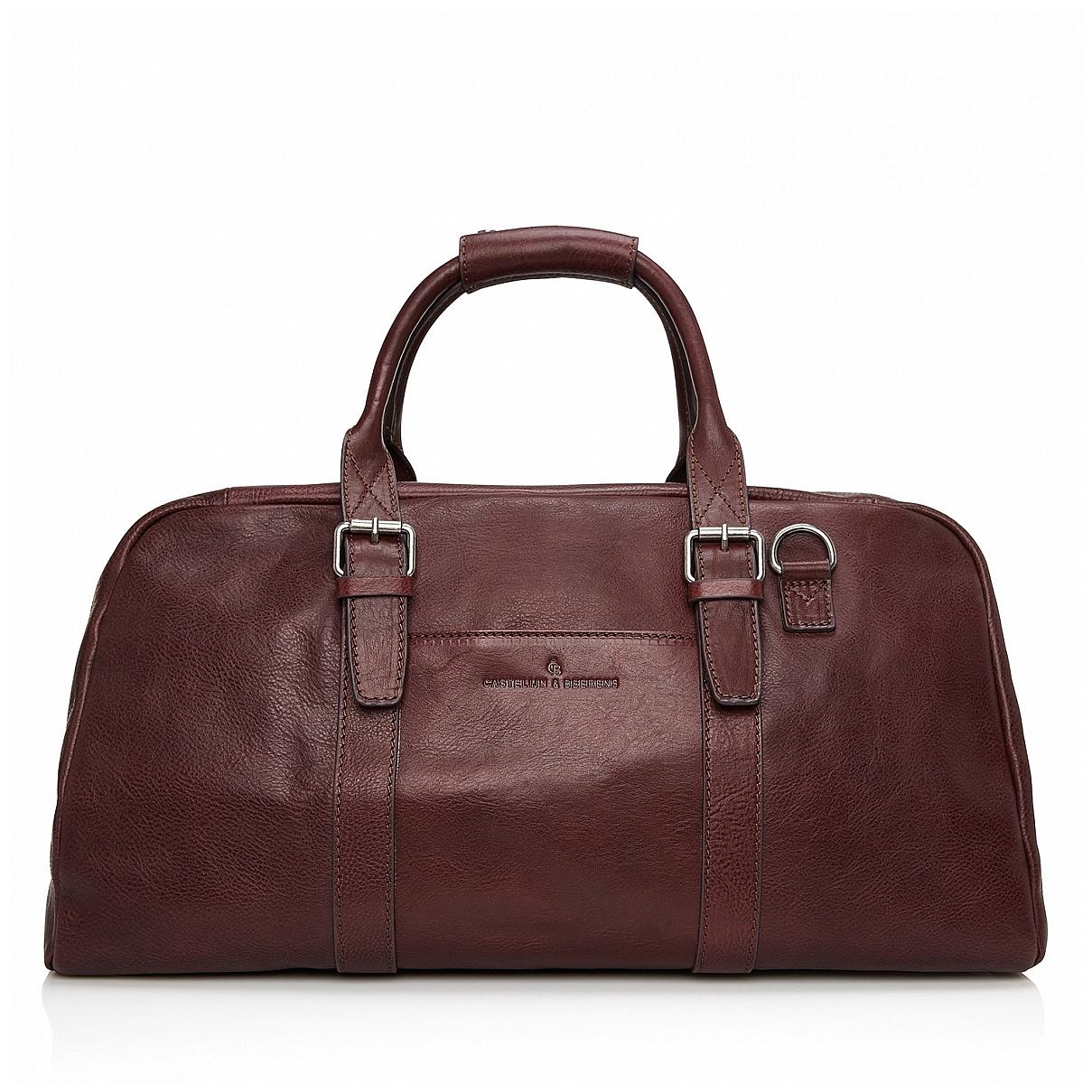 Castelijn & Beerens Elegantní kožená cestovní taška 639320 Bravo lilek