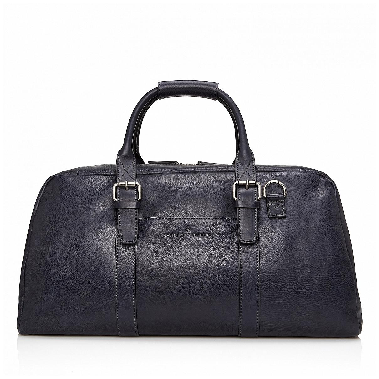Castelijn & Beerens Elegantní kožená cestovní taška 639320 Bravo tmavě modrá
