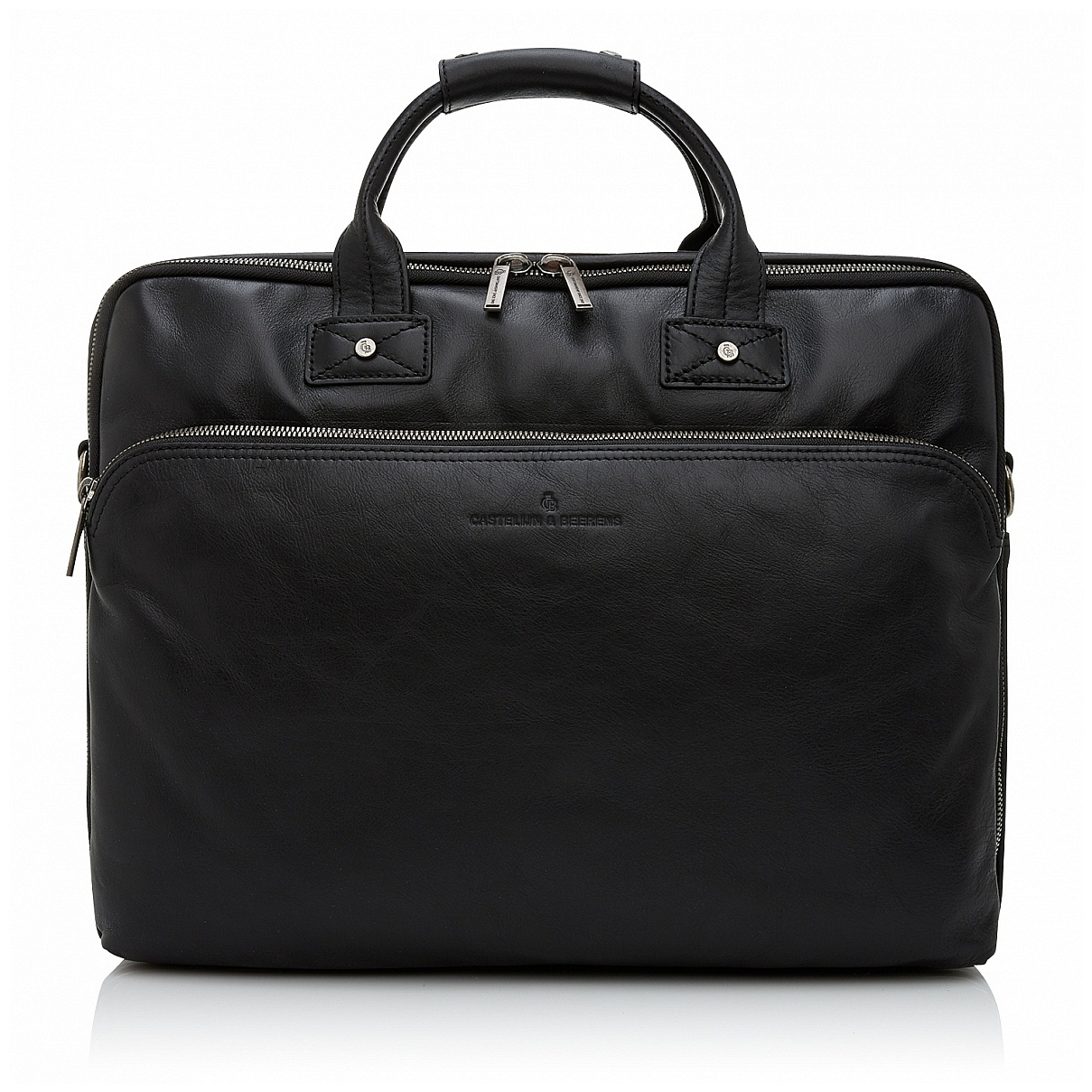 Castelijn & Beerens Kožená taška na notebook a tablet 609474 černá
