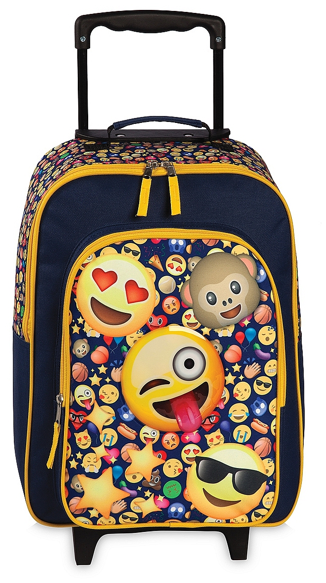 Fabrizio Dětský kufřík na kolečkách Patch 20515-0600 modro-žluto-červená