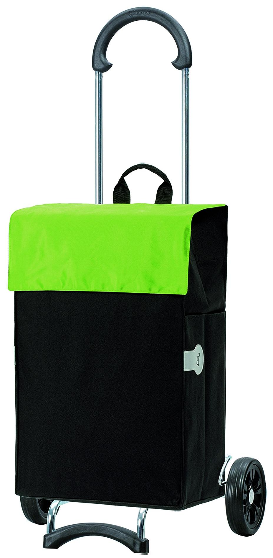 Andersen Nákupní taška na kolečkách SCALA SHOPPER® HERA 112-004-50 černo-zelená