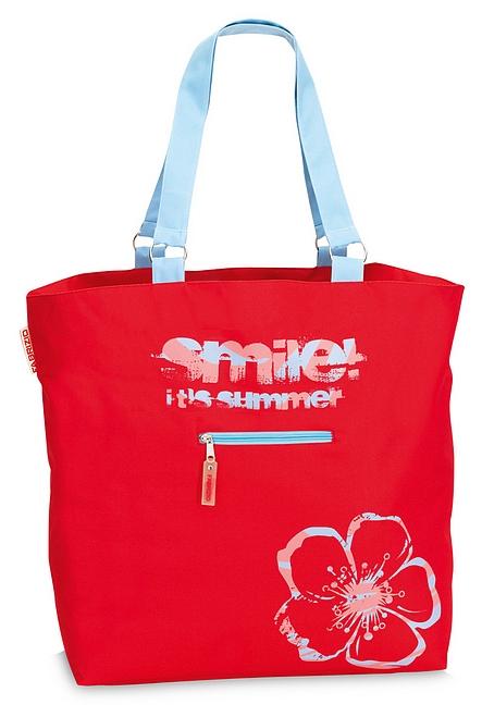 Fabrizio XXL plážová taška 50135-0200 červená cb8c7432699