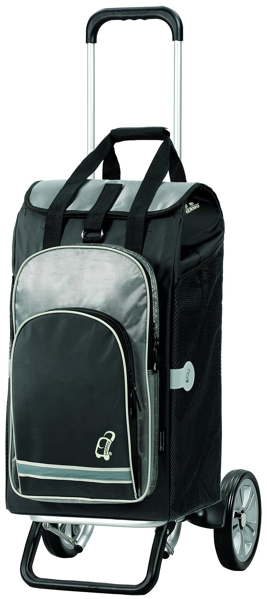Andersen Nákupní taška na kolečkách - batoh ALU STAR SHOPPER® HYDRO 115-036-80 černá