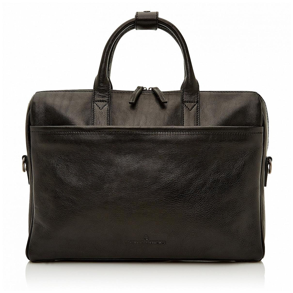 Castelijn & Beerens Pánská kožená taška na notebook 649472 černá