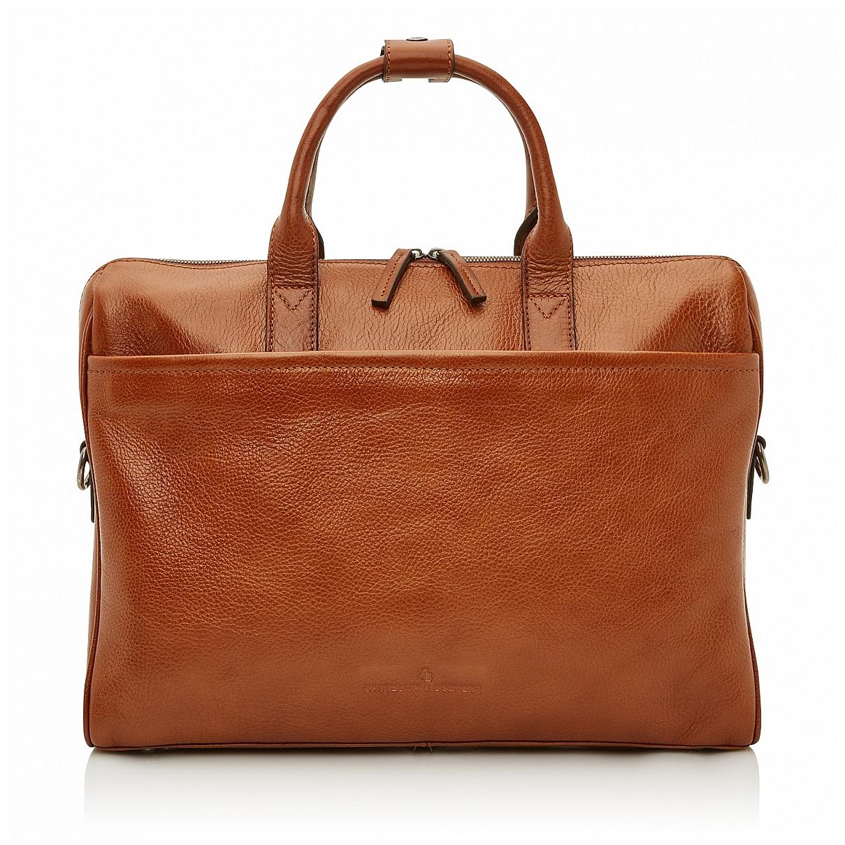 Castelijn & Beerens Pánská kožená taška na notebook 649472 koňak