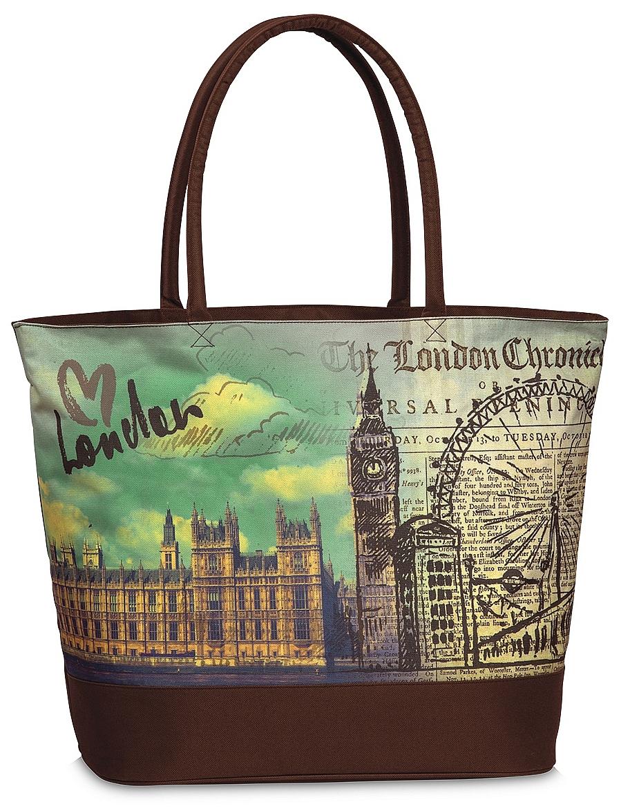 Fabrizio Letní taška / Nákupní taška 10290 Londýn hnědá