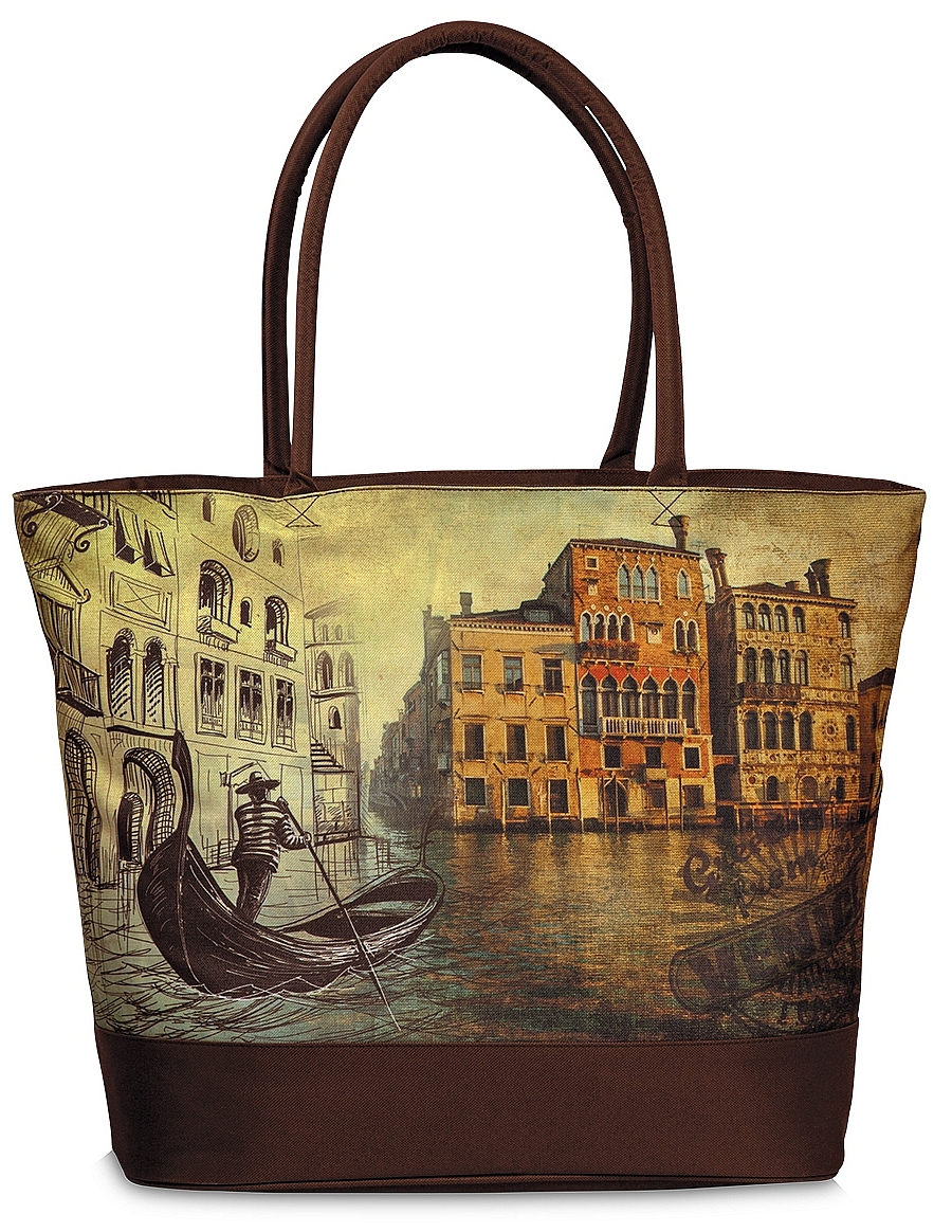 Fabrizio Letní taška / Nákupní taška 10290 Benátky hnědá