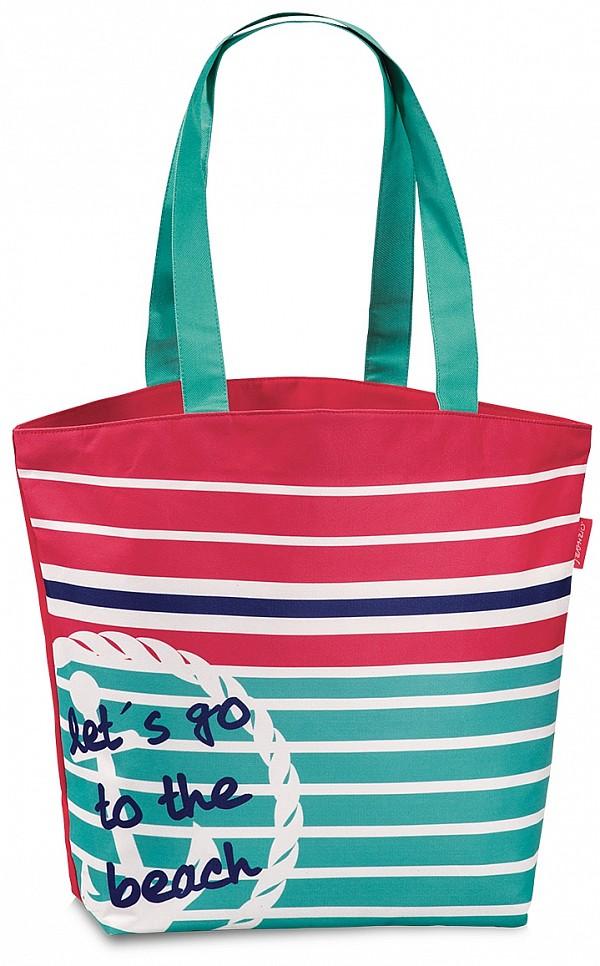Fabrizio Letní taška - Plážová taška 50276-beach růžovo-zelená - UNIVARO b47e1741770