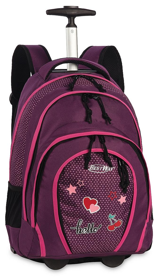BestWay Školní batoh na kolečkách 40133-5100 fialový