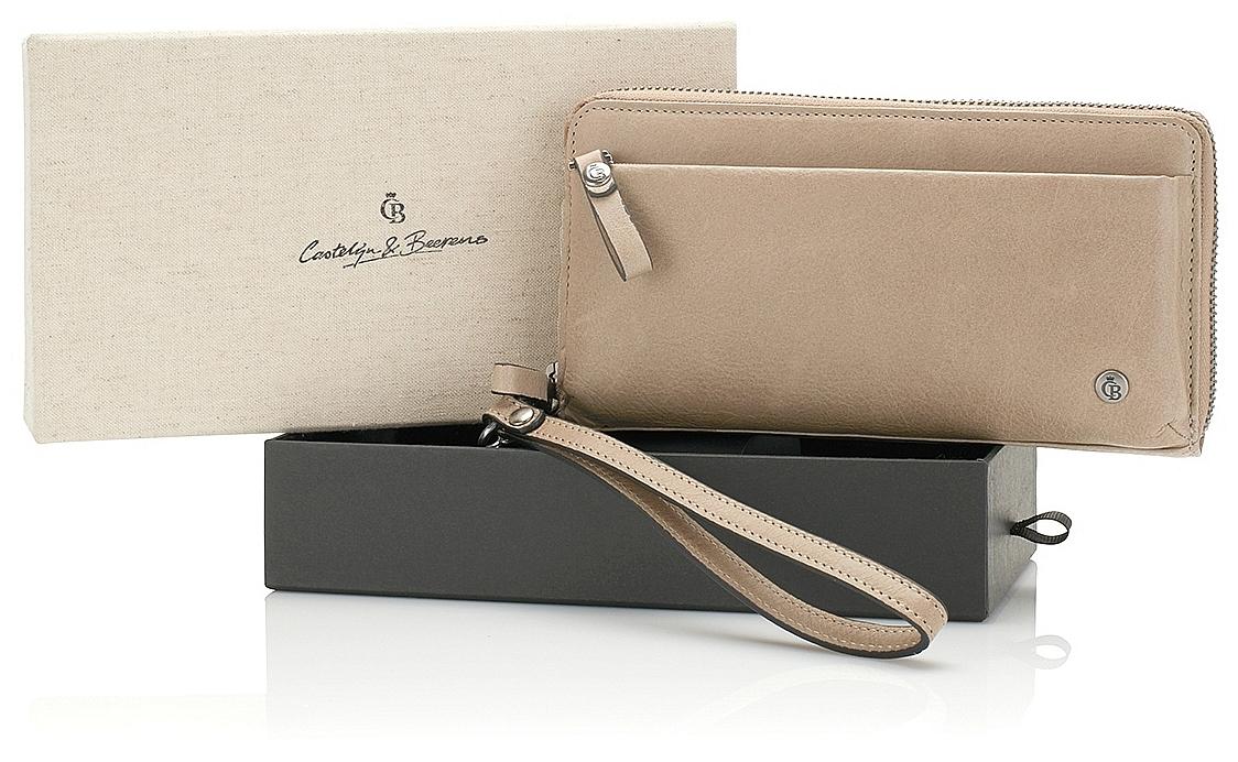Castelijn & Beerens Dámská kožená peněženka v dárkové krabičce 805515 TA béžová