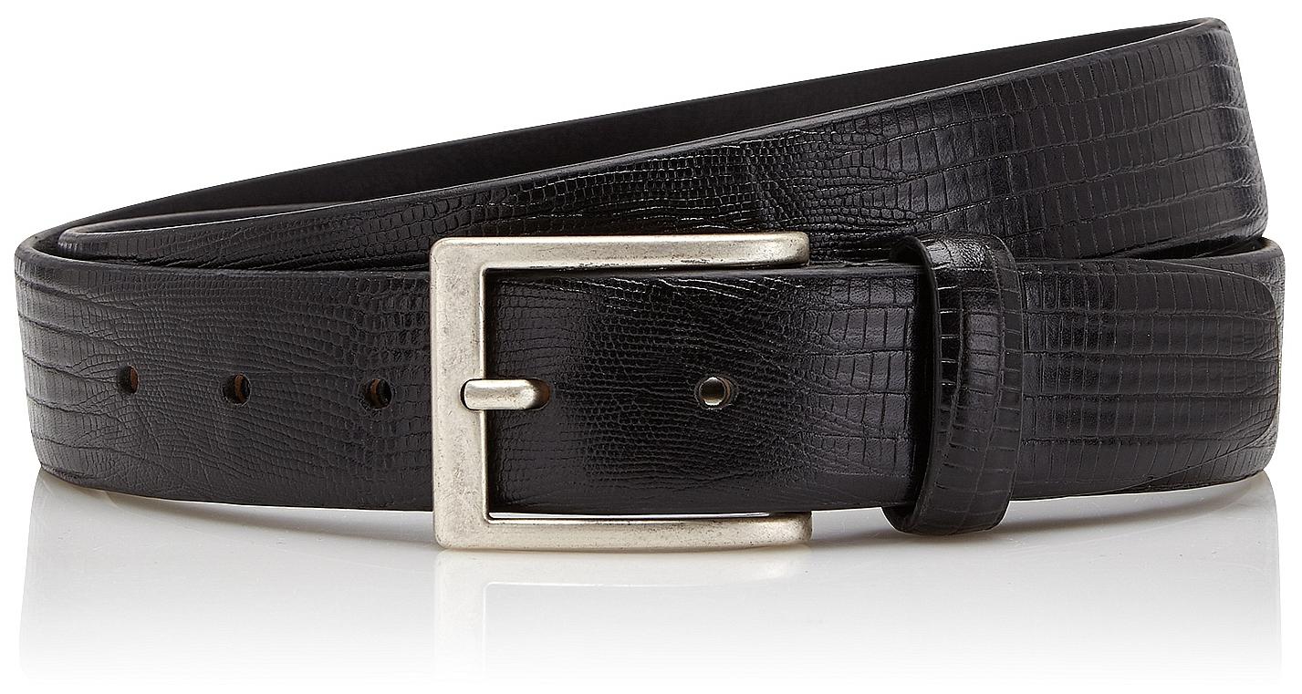 Castelijn & Beerens Elegantní pánský kožený opasek 126472 Lizard černý