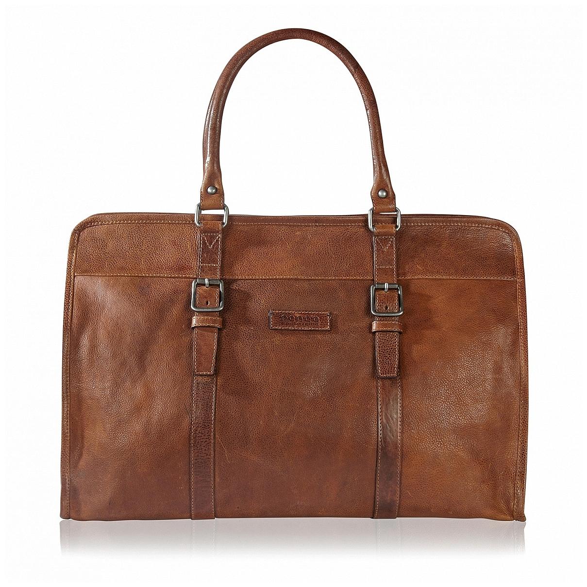 Castelijn & Beerens Elegantní kožená cestovní taška na notebook 599310LB hnědá