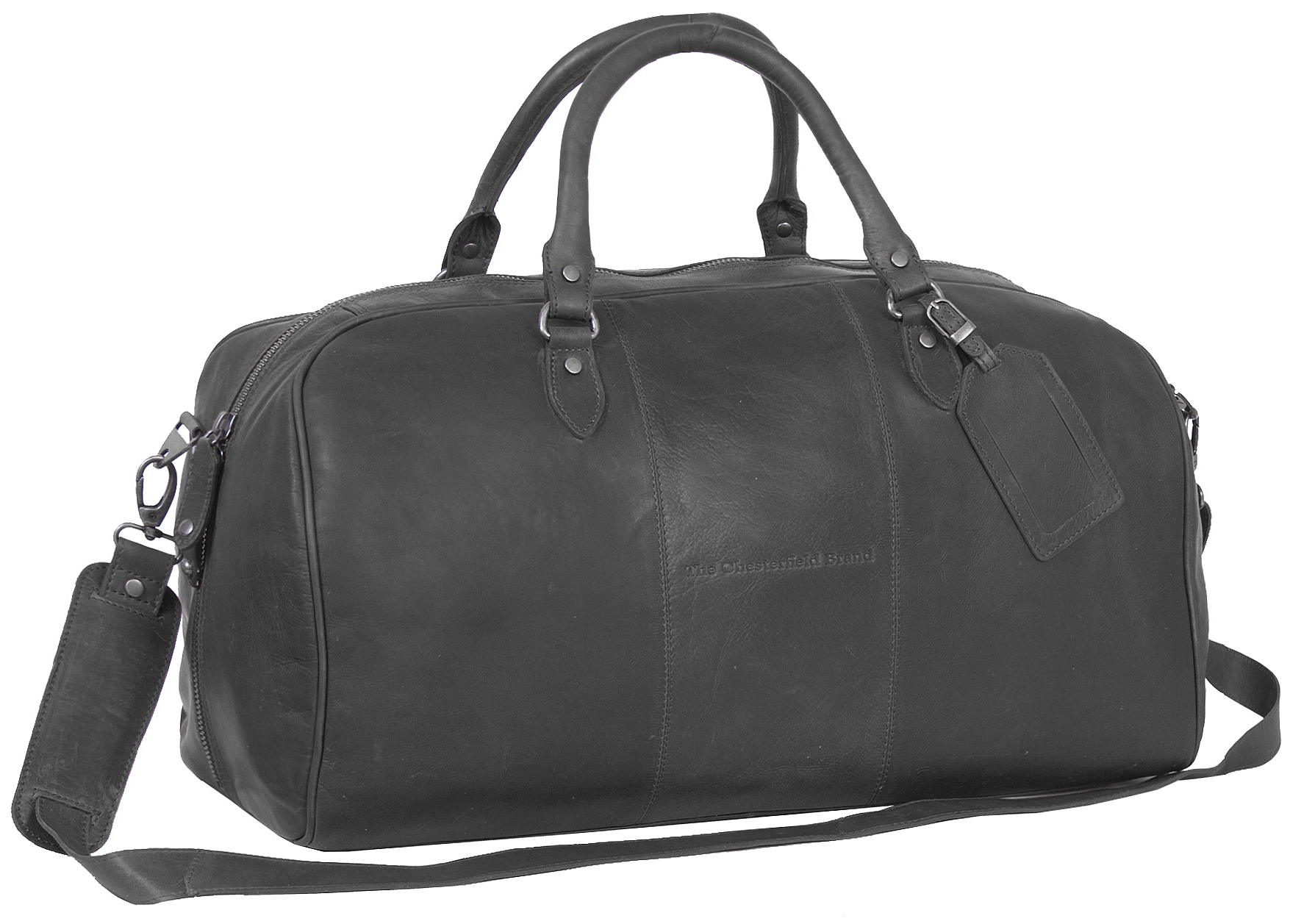 The Chesterfield Brand Kožená cestovní taška - weekender C20.000400 William černá