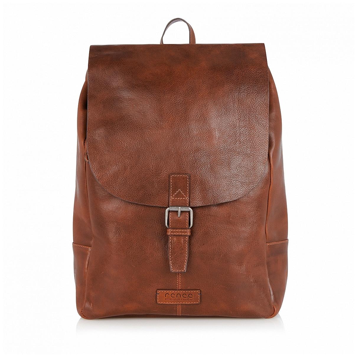 Castelijn & Beerens Kožený batoh na notebook 599575LB hnědý