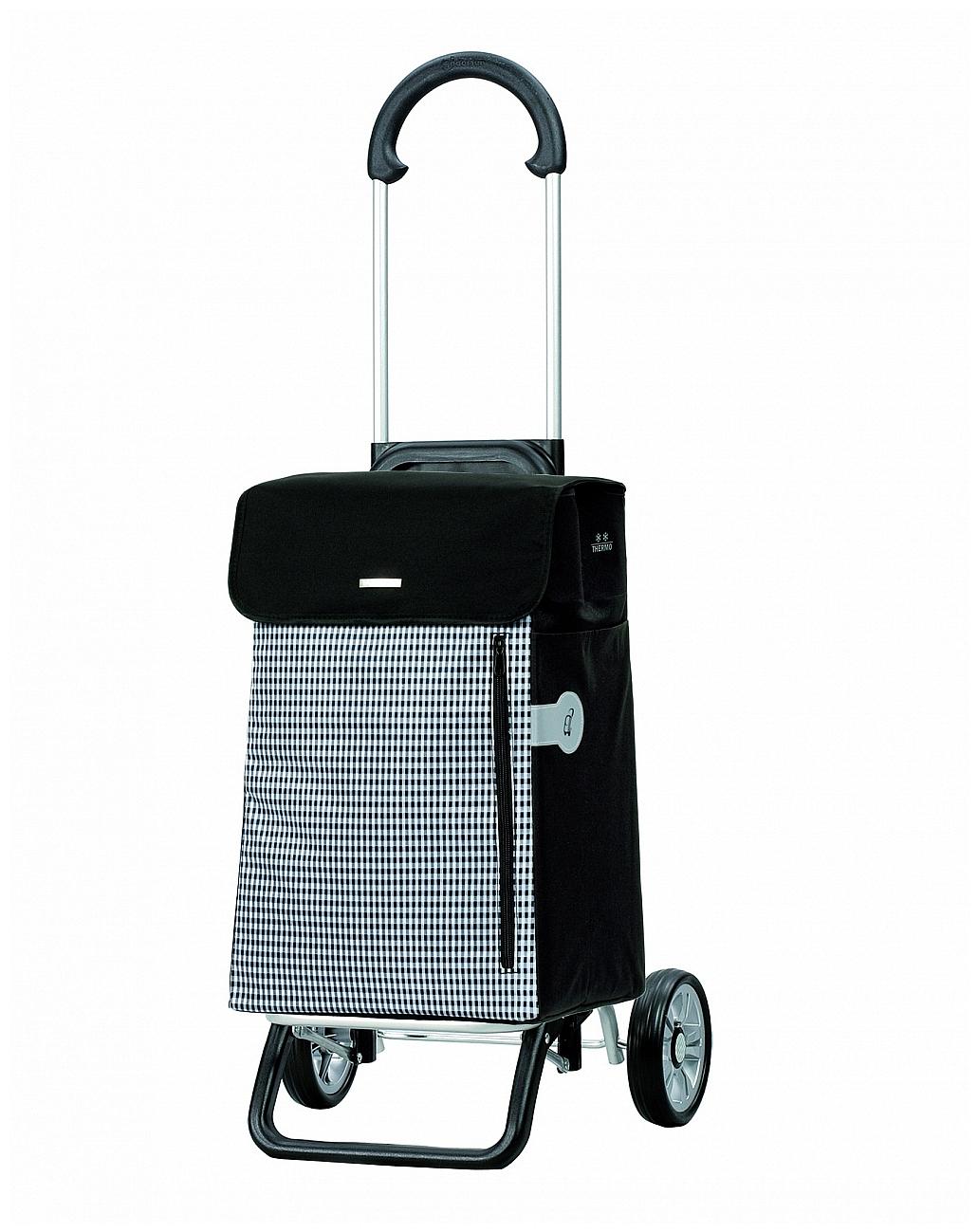 Andersen Nákupní taška na kolečkách s termopřihrádkou SCALA SHOPPER® PLUS PETIT 133-010-80 černá