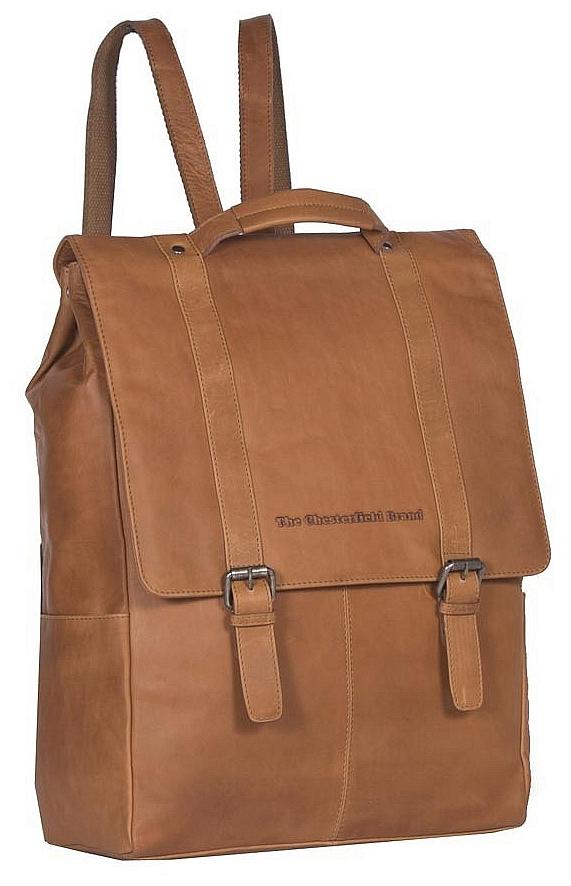 The Chesterfield Brand Pánský kožený batoh na notebook Rich C58.015631 koňak