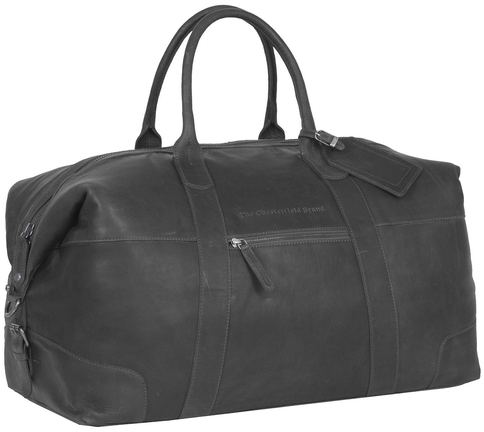 The Chesterfield Brand Kožená cestovní taška C20.001700 Portsmouth černá