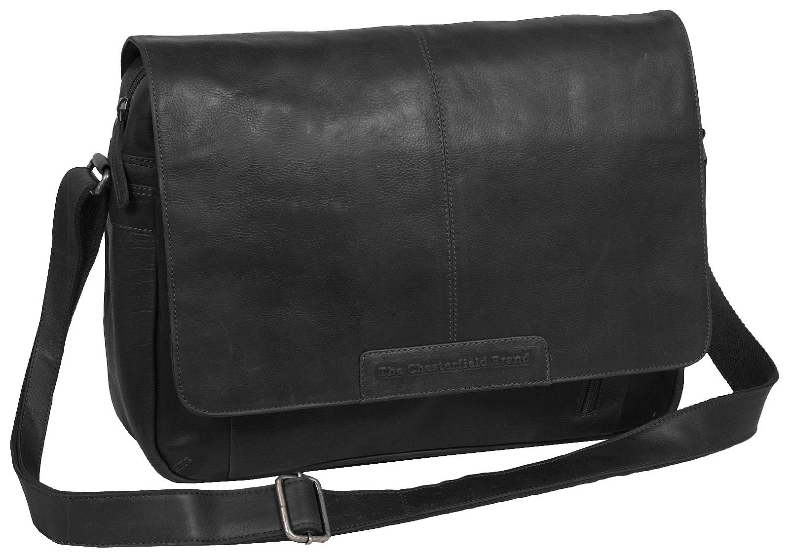 The Chesterfield Brand Kožená crossbody taška na notebook C48.055200 Richard černá