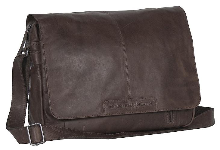 The Chesterfield Brand Kožená crossbody taška na notebook C48.055201 Richard hnědá