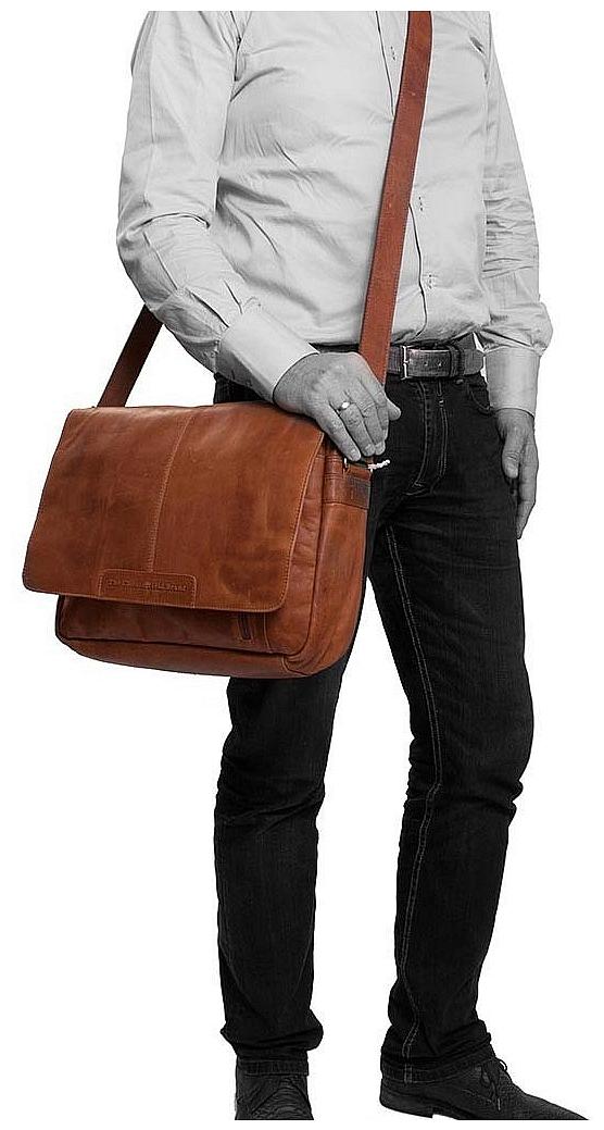 The Chesterfield Brand Kožená crossbody taška na notebook C48.055231 Richard koňak