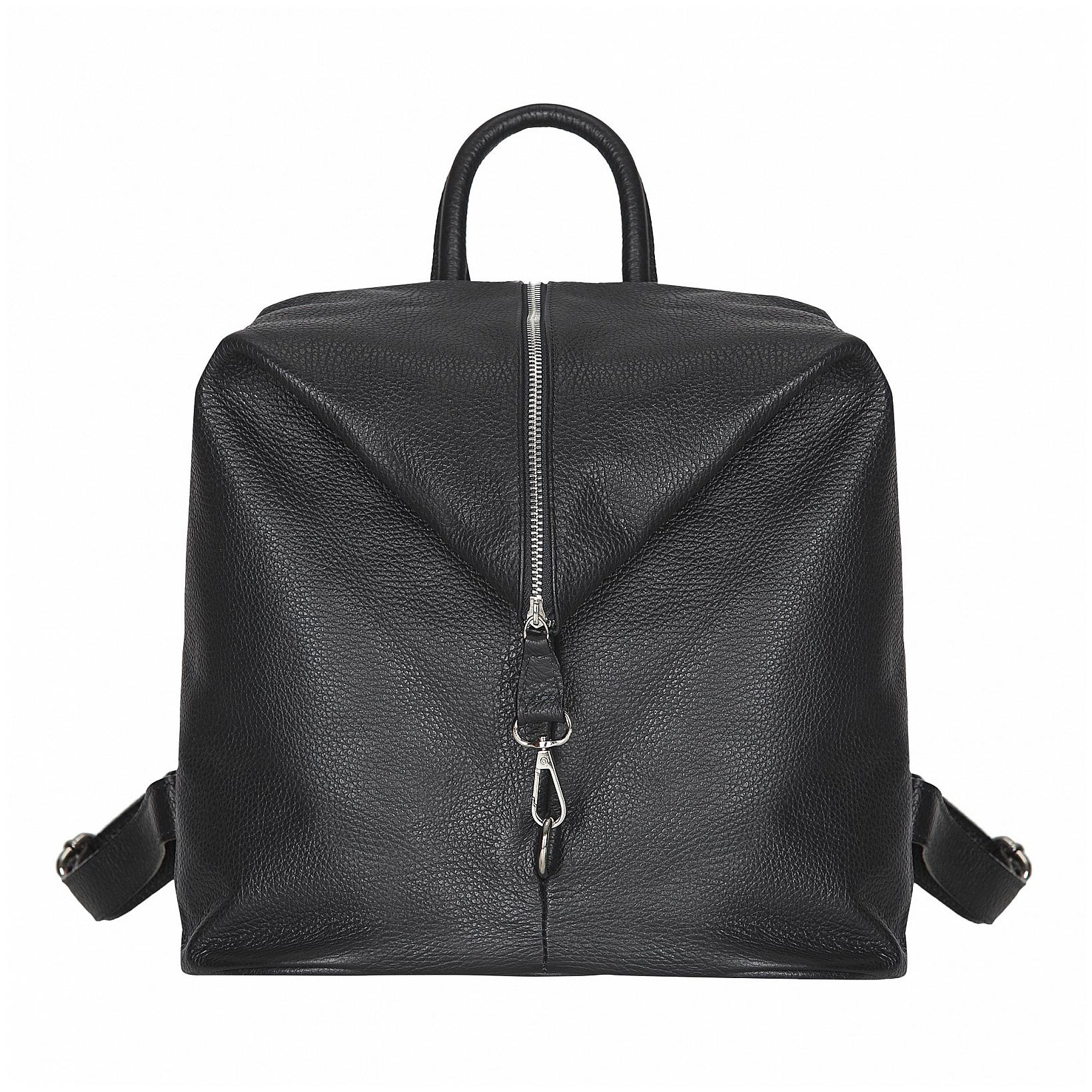 ESTELLE Dámský kožený batoh 1252 černý