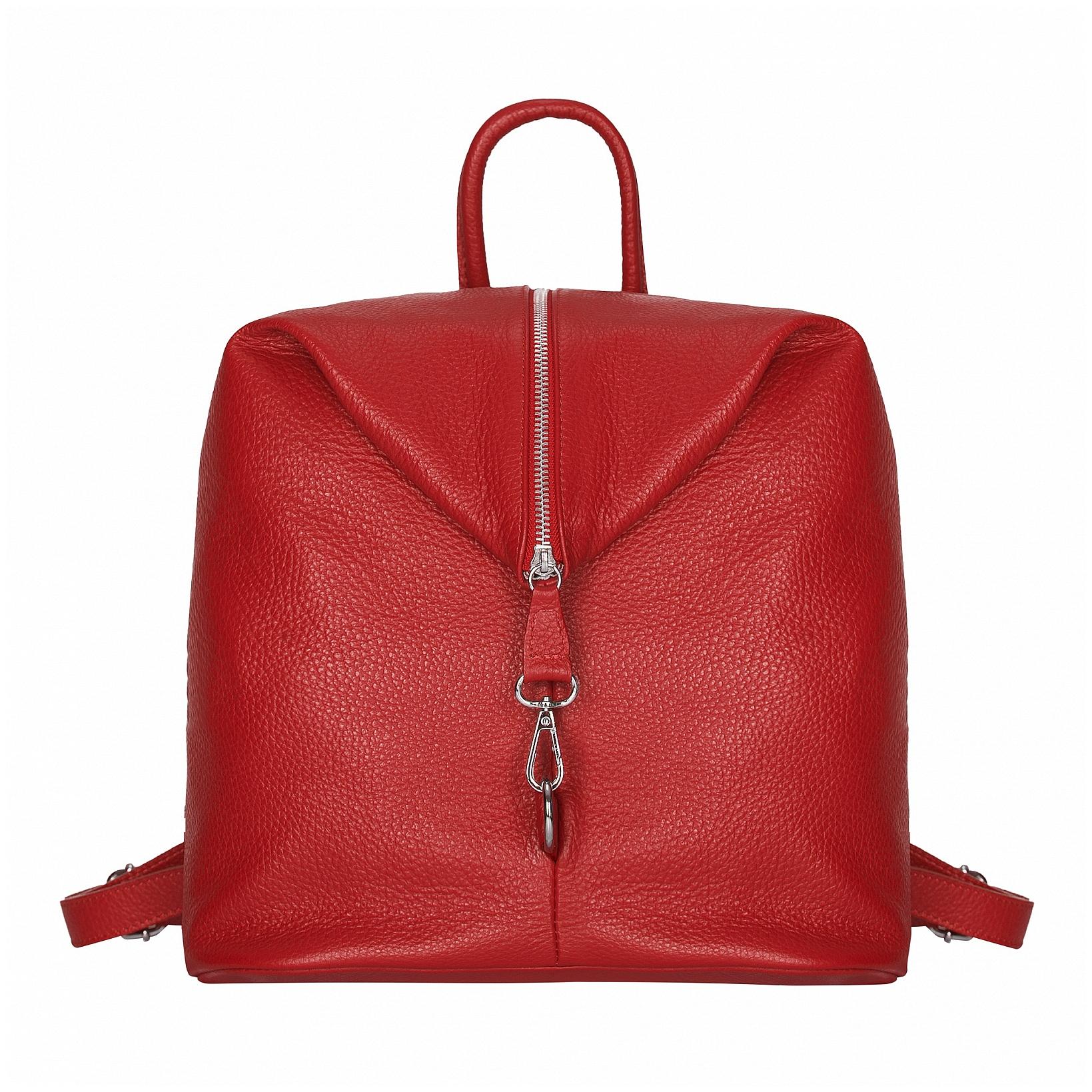 ESTELLE Dámský kožený batoh 1252 červený