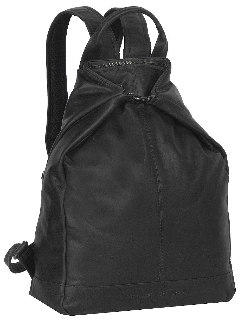 The Chesterfield Brand Dámský kožený batoh do města Manchester C58.014100  černá 0ca3bcd7b0