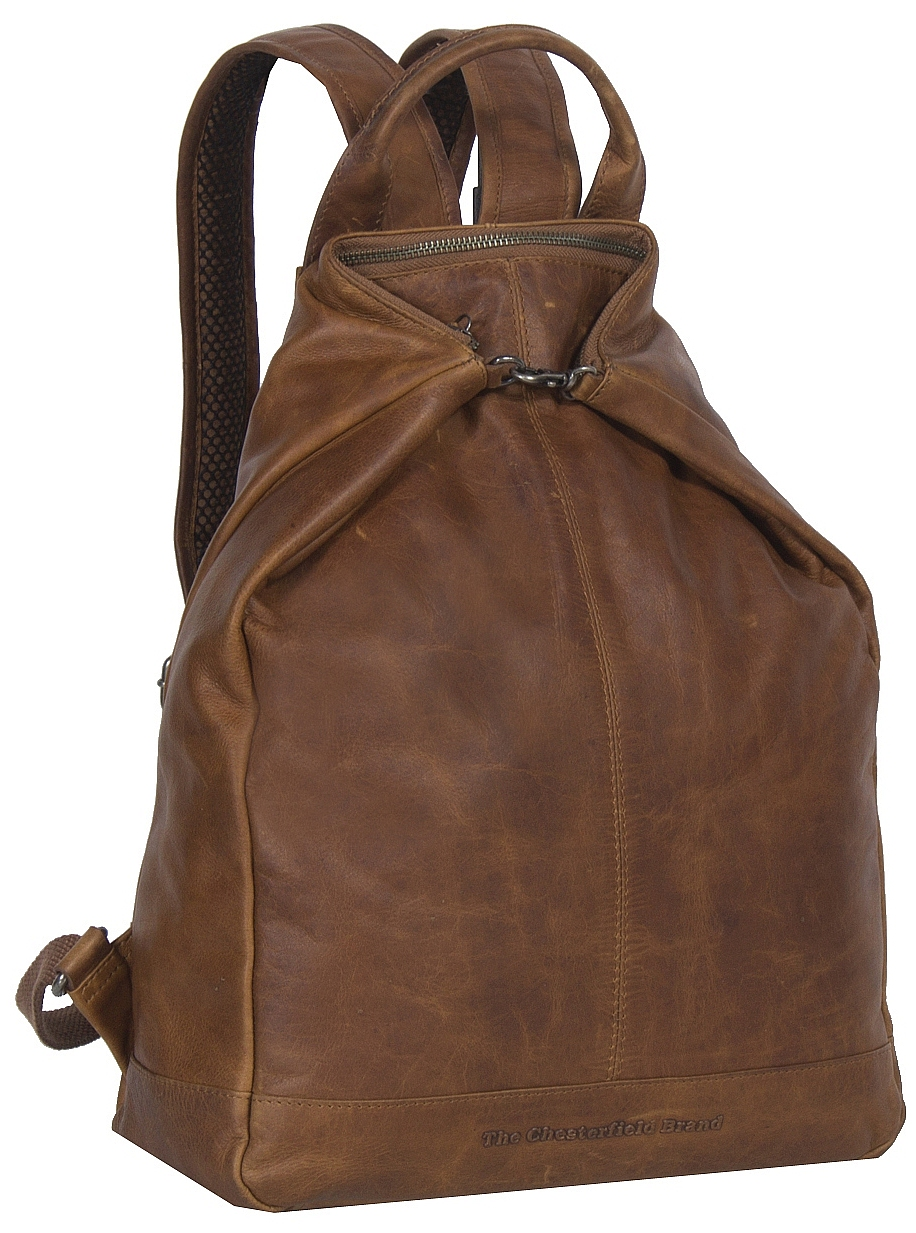 The Chesterfield Brand Dámský kožený batoh do města Manchester C58.014131 koňak