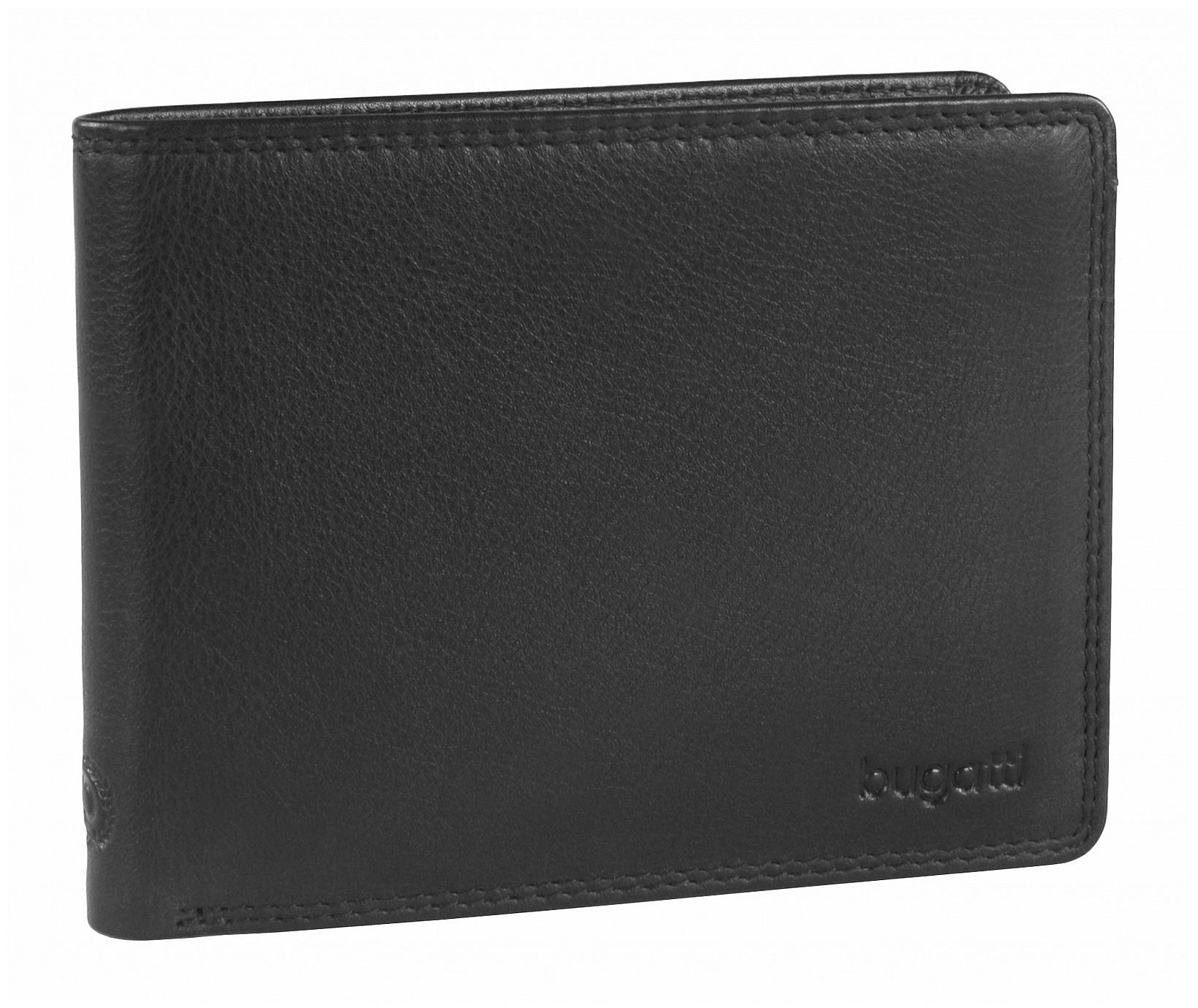 Bugatti Kožená peněženka Simbiosi 49316601 černá